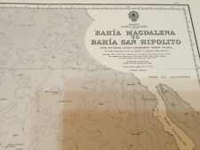 Genuine 60s Vintage Nautical Chart Mexico Lower California
