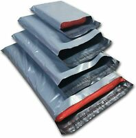 "9"" x 12"" Grey Large Quality Mailing Bags Poly Postal CD/DVD BD Sack Self-seal"