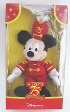 """Disney Store Plush BANDLEADER MICKEY Mouse Doll 75th Anniversary NEW 6"""" Tall"""