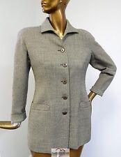 Giorgio Armani Italy Brown 100% Wool Button Coat sz 10 EURO 44
