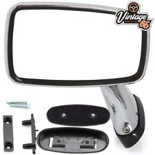 Classic Car MG MGB Triumph Ford Jaguar Mini Tex Style Chrome Door Mirrors LH