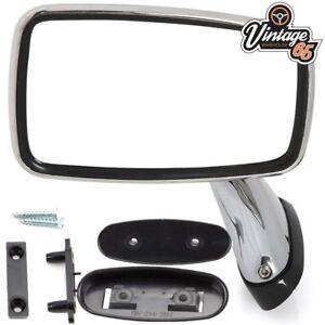 Classic Car MG MGB Triumph Ford Jaguar Mini Tex Style Chrome Door Mirrors LH