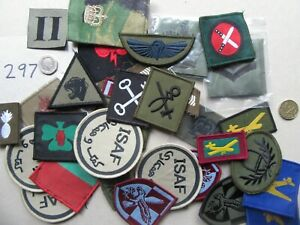 UK MOD. Mixed Trade, Rank, Special Forces Unit Patches. Job Lot x 30  [297]