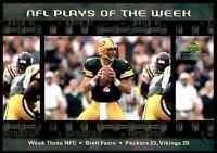 2000 OVERSIZE #3N Brett Favre HOF RARE Green Bay Packers NFL Plays of the Week