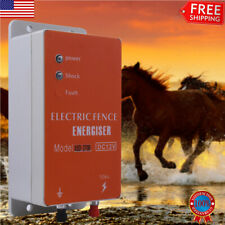 10km Electric Fence Controller Energizer Charger Ranch Animal Cattle Poultry Us