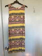 Loft - Anna Taylor Tiki dress in yellow and brown in size M