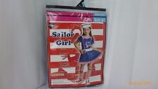 Halloween Costumes Sailor Girl Goodmark Dress and Hat Size Small 4 - 6 NOS