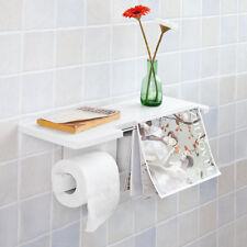 Sobuy Porta Carta igienica da bagno con Supporto Mensola a muro Frg175-w IT