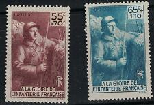 France SC B71-B72 French Soldiers WW II MNH 1946