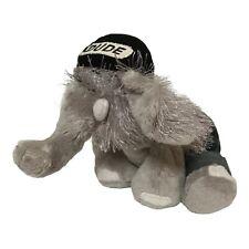 "Gantz Webkinz Elephant 9"" Plush Toy Gray HM007 With Clothes Blue Jeans & Hat"