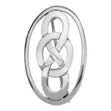 Plata de Ley Tradicional Celta Eternidad Entrelazado Diseño Nudos Ovalado