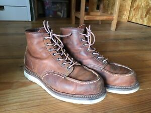 Red Wing 1907 Boots / 6 inch Moc Toe / UK 10 USA 11D EU 44.5 / Made in USA
