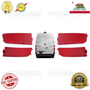 Left Right Side Pair Bumper Reflector Red for 2007 2018 Mercedes Dodge Sprinter