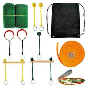 Bars Bar Monkey 40 Swinging Ft Kids - Obstacle Course Slackline - Kit Set AU