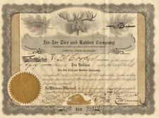 Zee-Zee Tire and Rubber Company > 1913 beaver moose vignette stock certificate