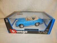 BURAGO PORSCHE 356B CABRIOLET 1961 BLUE 12025 BNIB 1:18
