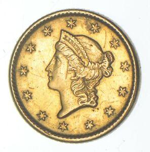 1854 $1 Liberty Head - U.S. Gold Coin *996