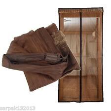 Zanzariera magnetica universale MARRONE con calamita tenda porte balconi 140x240