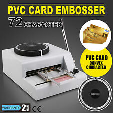 72-Character Manual PVC Card Embosser Credit ID VIP Embossing Machine 72 Letters