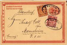 CHINA 1901 Cover Boxer Revolution Dragon PEKING to Mannheim Germany