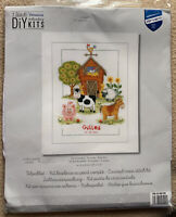 At The Farm Birth Announcement Vervaco Counted Cross Stitch Kit 14 Ct