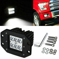 2pcs 18W LED Work Light Bar bumper mount Spot Offroad Driving Fog Lamps SUV 4*4