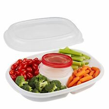 Rubbermaid Party Platter Party Tray Clear 4 Piece Set