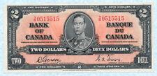 CANADA 2 Dollars 1937 P59b XF/AU
