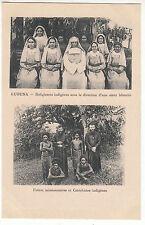 CARTE POSTALE PAPOUASIE  KUBUNA RELIGIEUSE INDIGENES FRERES MISSIONNAIRES