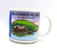 Rita's Roadhouse & Landing Big Delta Alaska Coffee Cup Mug Pipeline Bridge