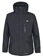 Cappotti e giacche da uomo nero impermeabili con colletto