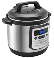 Insignia- 8-Quart Multi-Function Pressure Cooker - Stainless Steel New