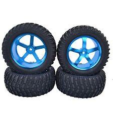 95mm RC 1/10 Short Course Rally Truck Tires Tyre Metal Wheel Rim HSP Blue M05B7