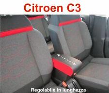 Bracciolo Bicolor rosso/nero Citroen c3 portaoggetti Armrest Armlehne Accoudoir