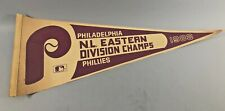 PHILADELPHIA PHILLIES 1983 NL EAST CHAMPS VINTAGE MLB BASEBALL PENNANT