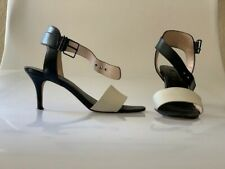 Saks Fifth Avenue BLACK White Heels 8