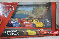 Disney Pixar Cars 2   RACING 4 PACK McQueen,Jeff,Max,Ronnie (release 2010 )  NIB