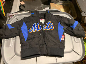 MLB New York Mets Authentic Dugout Majestic Jacket Toddler Size 2T