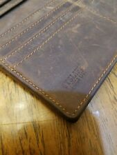 Retro Men's Brown Leather Handbag Wallet ID Card Holder Pockets Purse Bags