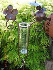 Regenmesser 23381 Eule Braun Metall Gartendeko Beetstecker Metall Stab Vogel