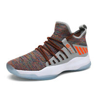 Men's Fashion Flyknit Basketball Shoes Breathable Atheletic Sneakers Boots New