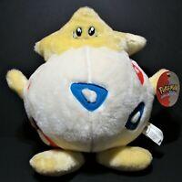 "Vtg Nintendo POKEMON TOGEPI Plush 1999 Play By Play Stuffed Animal Toy 14"" TAG"