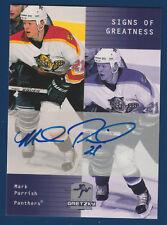MARK PARRISH 99-00 UPPER DECK WAYNE GRETZKY 1999-00 SIGNS OF GREATNESS 16555