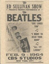 The Beatles Ed Sullivan Show Feb 9 1964 CBS Studios > Concert Poster > Replica