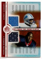 2005 UD REFLECTIONS BARRY SANDERS HOF DUAL GAME WORN JERSEY CARD  DETROIT LIONS