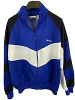 Macgregor Mens sz M Blue Full Zip Track Jacket Vtg 80s 90s Tennis Running