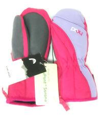 HEAD Junior Girls Dupont Ski Mittens Gloves Pink & Purple, Extra Small 3-4 Years