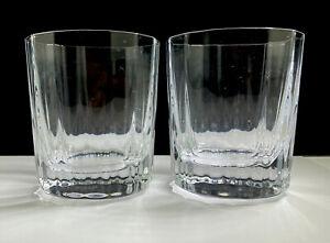 2 Early Jens Quistgaard (IHQ) Dansk Oval Facette Low Crystal Bar Glasses, France