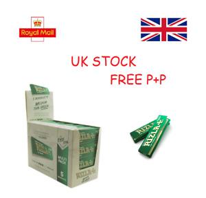 Genuine Regular Green Rizla - Standard Small Cigarette Rolling Papers Skins Book