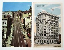 Two Syracuse Ny Postcards St. Scene & Onondaga Coounty Bank Building